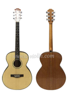 40 Inch Spruce Plywood Sapeli Acoustic Guitar With Black ABS Binding (AF48H)