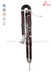 Professional Glossy red Maple Bassoon/ C Key Bass Bassoon (BBA7000)