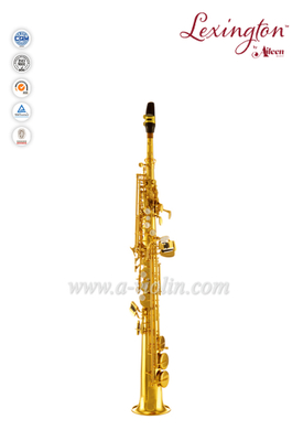 Bb Key Yellow brass Chinese Pads jinbao soprano saxophone(SP400G)