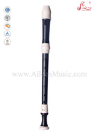 Color ABS Baroque Style Alto Recorder Flute (RE2238B)