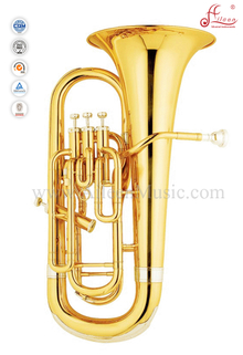 Gold Lacquer 4 Valves Bb Key Euphonium (EU9542)