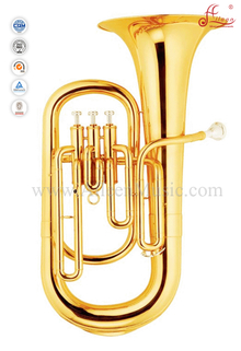 3 Valves Gold Lacquer Bb Key Euphonium (EU9530)