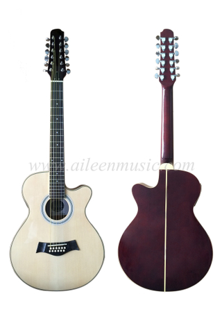 Wholesale 40 Inch Mini Cutaway 12 Strings Acoustic Guitar (AF665CE-12)
