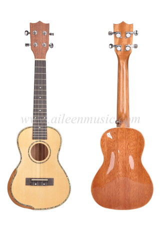 23 Inch Solid Spruce Top Advances Student Ukulele (AU17AB-23)