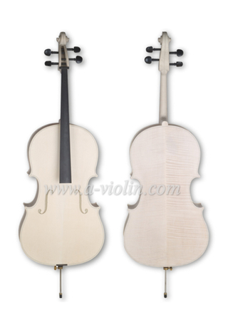 4/4, 3/4 Unfinished Handmade White Cello for Luthier (C150W)