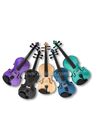 Metal tailpiece colorful student violin (VG105)