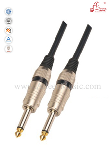 6mm PVC Black Spiral Guitar Cable With Paper Card (AL-G032)