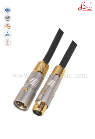 6.5mm Black Xlr Mic Cable Wiring PVC Microphone Cable (AL-M013)