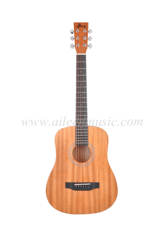 "34"" Baby Style Mini D Shape High Quality Student Acoustic Guitar (AF77L-MD)"