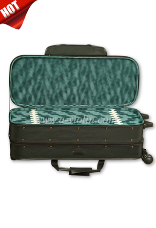 Musical Oxford Exterior Multi-Ply Wood Violin Case For 4 Violins (CSV401)