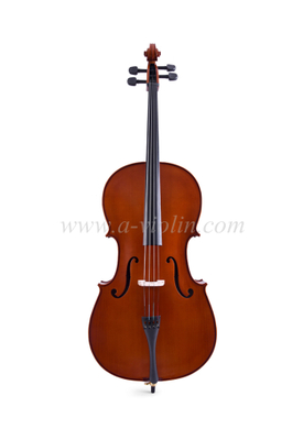 Professional natural handmade cello with nice flame solid maple (CG107)