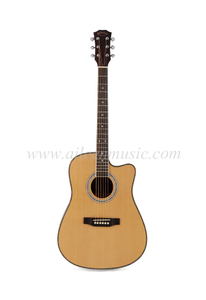 "41"" Cutaway Spruce Plywood Top Acoustic Guitar (AF168C)"