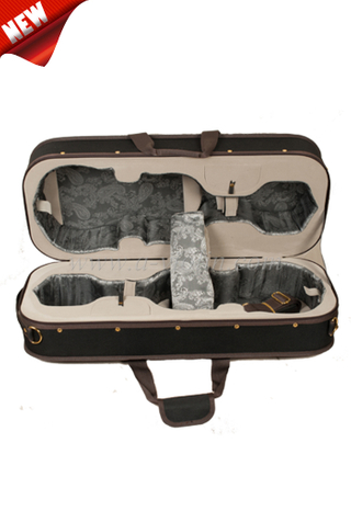 4/4 Styrofoam Shell oxford exterior Double Violin Case(CSV217)