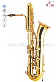 Bb Key Yellow Brass Bass Saxophone (SP3061G)