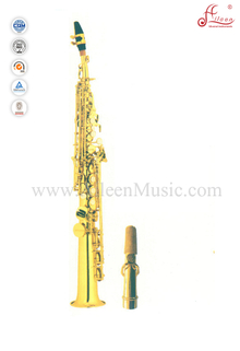 Bb Key Gold Lacquer Straight Soprano Saxophone (SP2011G)