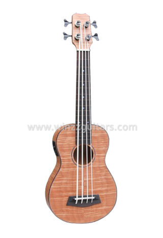 All Flamed Mahogany Plywood Ukulele Bass With EQ (AUB-52)