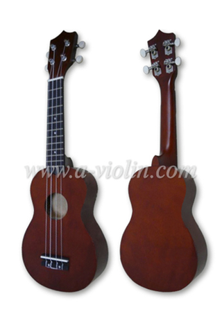 "21"" Linden Plywood China Soprano Ukulele Guitar (AU01R)"