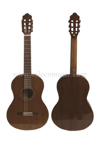 39 Inch Mahogany Plywood Walnut Fingerboard Classical Guitar(ACM27)