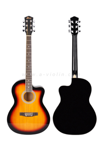 "39"" high quantity Polish varnish cutaway acoustic guitar (AF27C)"