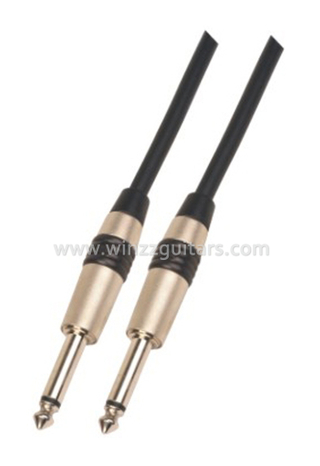 Black 6mm PVC Spiral Guitar Cable Instrument Cables (AL-G019)