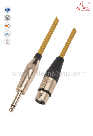 Flexible 6mm PVC And Tweed Spiral Microphone Cable (AL-M037)