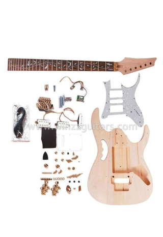 Double Locking System Unfinished DIY electric guitar kits (EGH400-W)