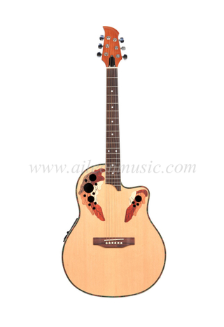 "[Aileen] 41"" 4-Band EQ Round Back Ovation Electric Guitar (AFO129CE)"