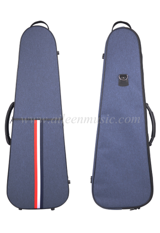 Wholesale New Customized Triangle Shape Deluxe Foamed Violin Light Case(CSV502C1)