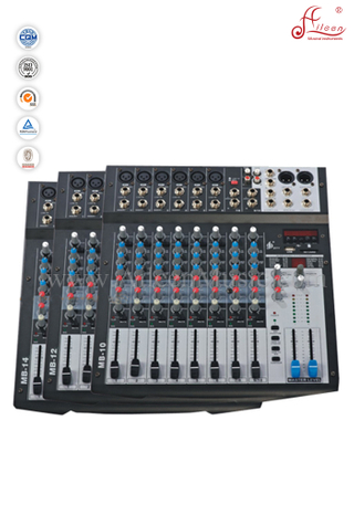 Professional 6 Channles Clip Led Mixer Mixing Console (AMS-D604-EFF)