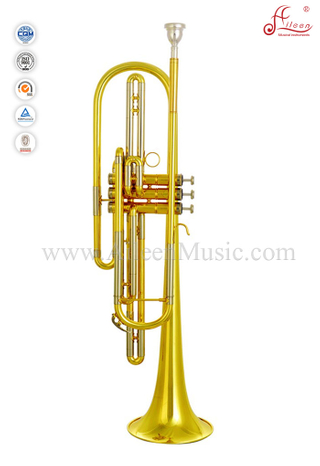 Yellow Brass Leadpipe Bb Key Bass Trumpet Manufacturer (BTP-H3900G-SYY)