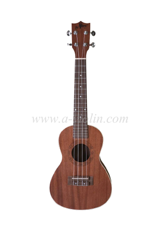High quality and density man-made wood fingerborad and bridge Arched back ukulele (AU07LAB)