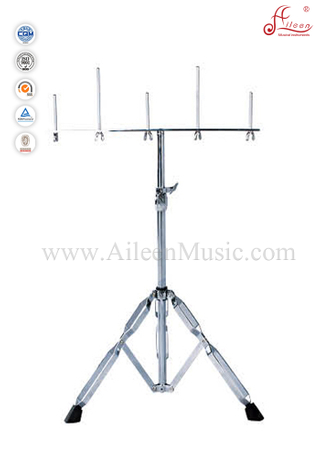 Fully Height Adjustable Chrome Cowbell Stand/Musical Instrument Stand (ACBSC01)
