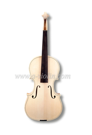 Unfinished White Violin for violin maker luthier, Unvarnished Violin (V100W)